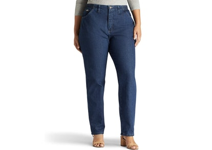 Lee Plus Size Relaxed-fit Elastic-Waist Jean