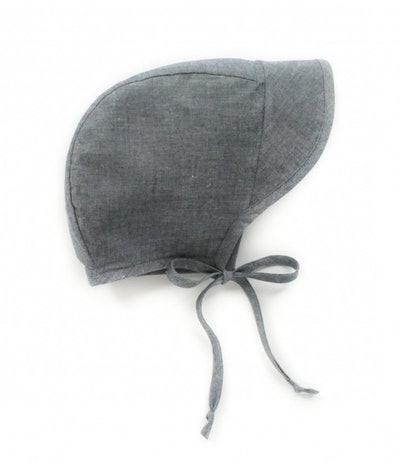 Brimmed Bonnet in Organic Cotton Chambray