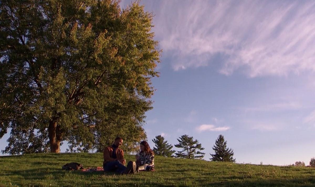 Matt James and Serena P. enjoy a picnic on 'The Bachelor.'