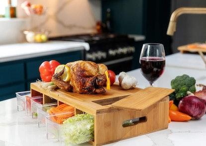 BAMBOO LAND Food Prep Cutting Board