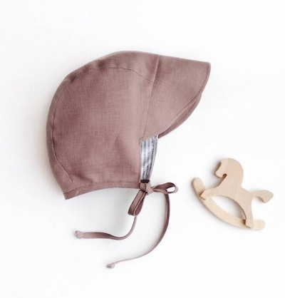 Cappuccino Linen Brimmed Bonnet