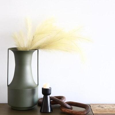 Sage Genie Metal Handled Vase