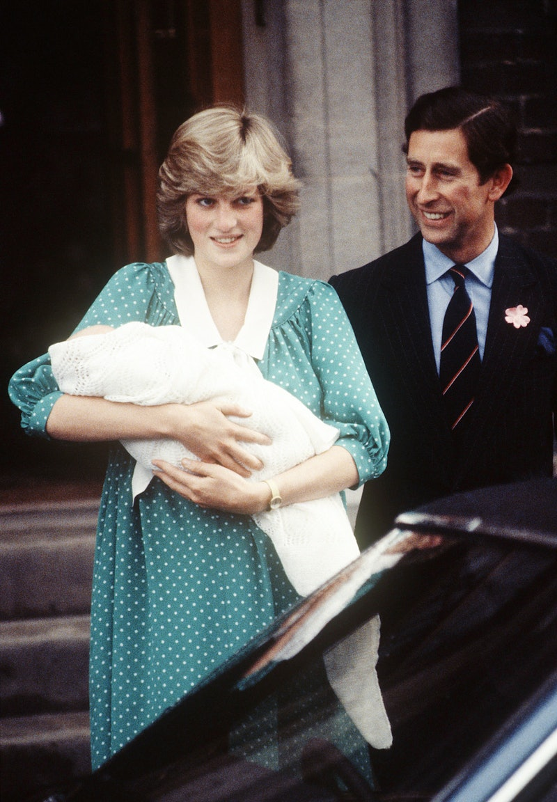 Princess Diana and Prince Charles after the birth of Prince William.