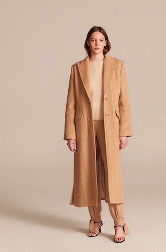 Pinstripe Tailored Coat