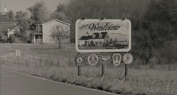 Westview sign in WandaVision
