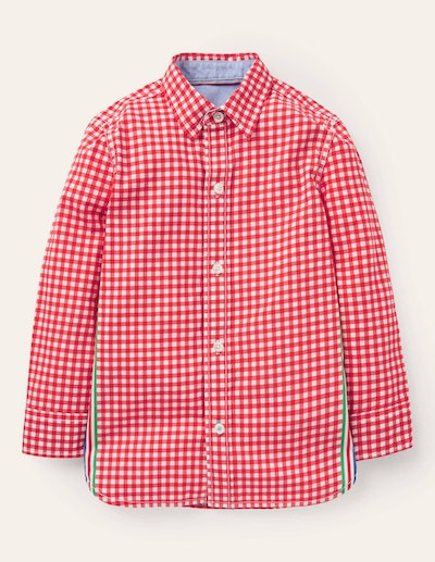 Casual Laundered Shirt - Red Gingham