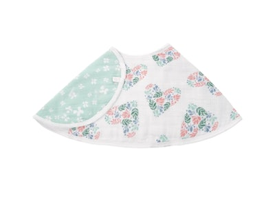 Cotton Muslin Bib in Briar Rose