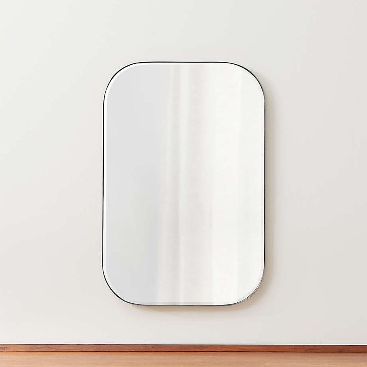 Edge Silver Rounded Rectangle Mirror