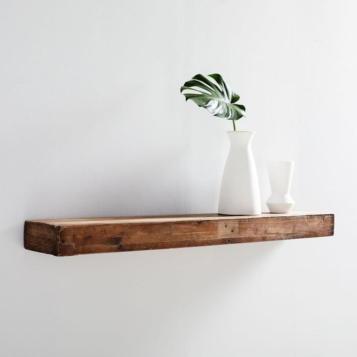 Reclaimed Wood Floating Shelf- 2Ft, Reclaimed Pine