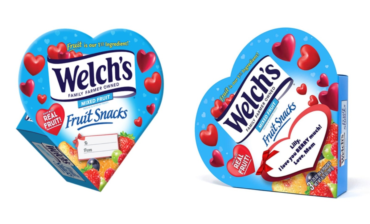 Welch's Fruit Snacks' Heart-Shaped Box for Valentine's Day 2021 is a sweet throwback.
