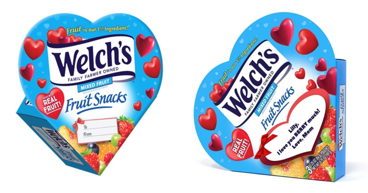 This Heart-Shaped Welch's Fruit Snacks Box Is A Sweet Valentine's Day Gift That'll Take You Back