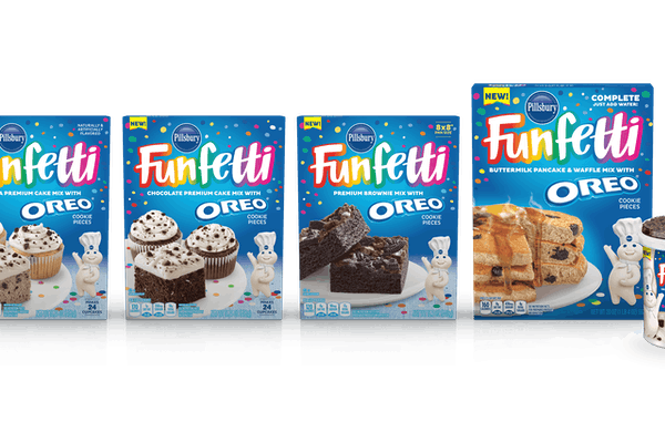 Pillsbury's new Funfetti with Oreo baking line includes cakes, brownies, and more.