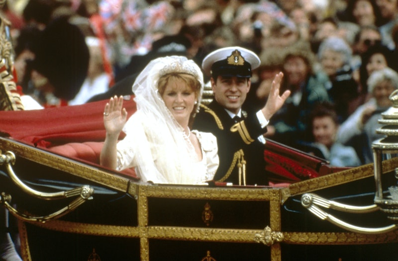 Sarah Ferguson and Prince Andrew at their wedding in 1986.