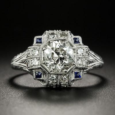 Art Deco 1.23 Carat Diamond Engagement Ring