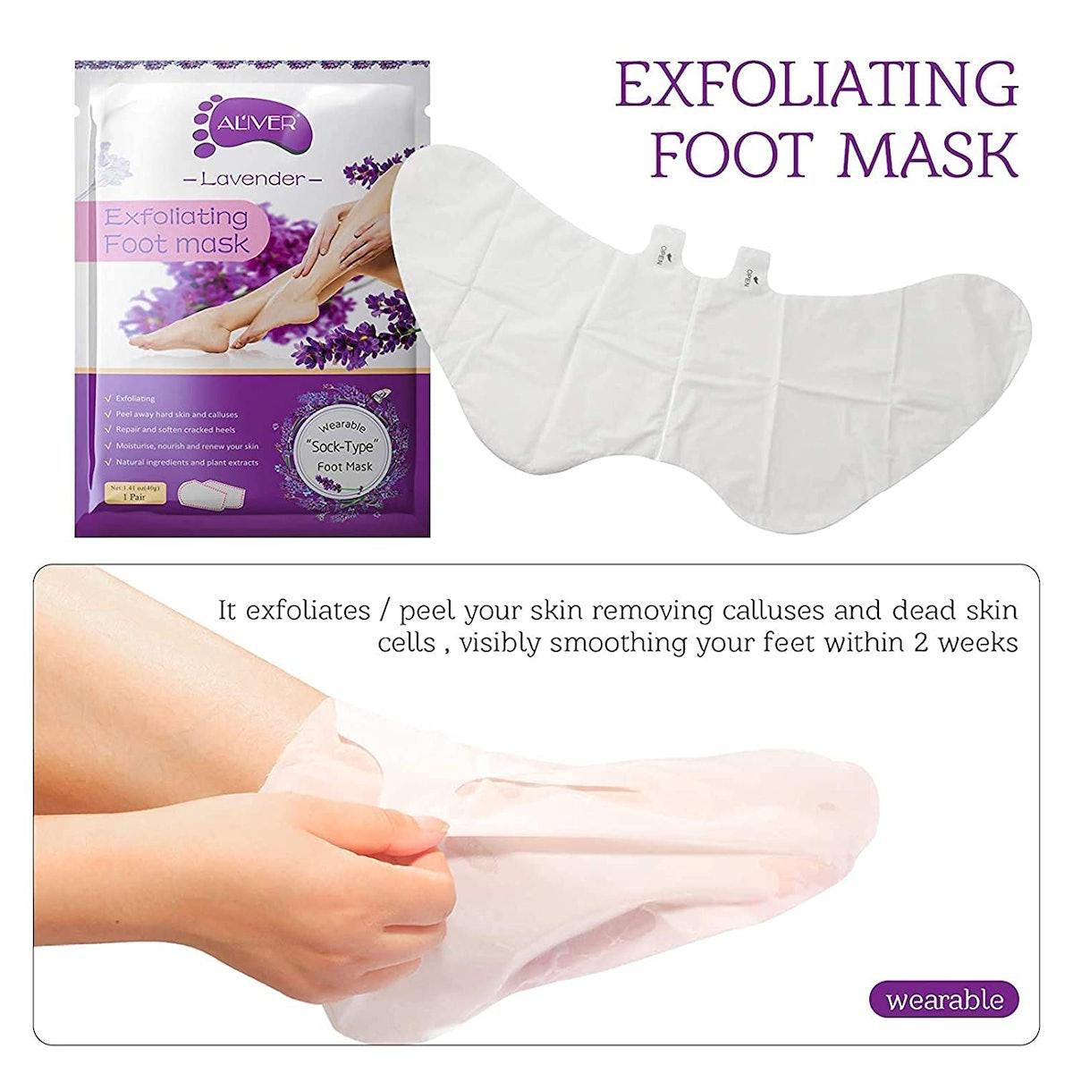Aliver Exfoliating Foot Peel Masks (3 Pairs)