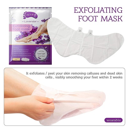 Aliver Exfoliating Foot Peel Masks (3 Pairs)
