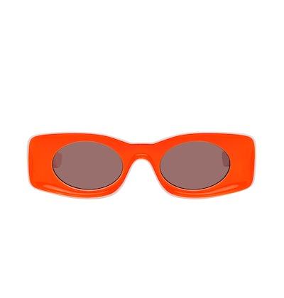 White & Orange Paula's Ibiza Square Sunglasses