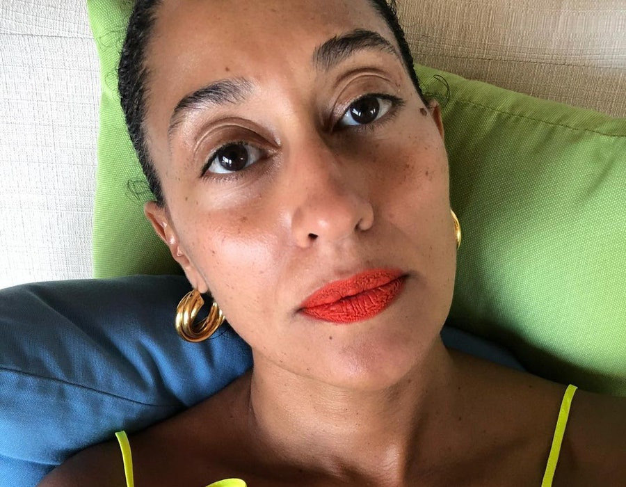 Tracee Ellis Ross is a fan of the velvet furniture trend