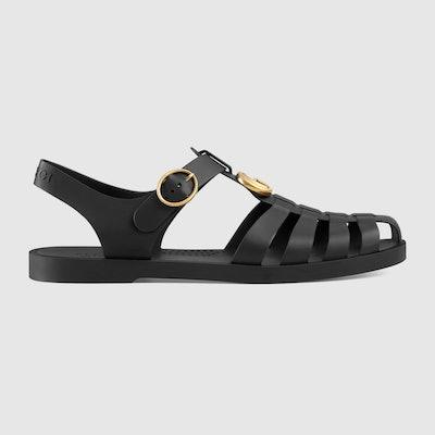 Rubber Buckle Strap Sandal