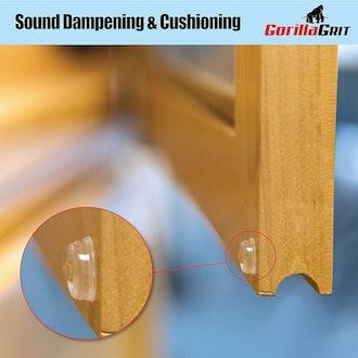 GorillaGrit Sound-Dampening Door Bumpers (100 Count)