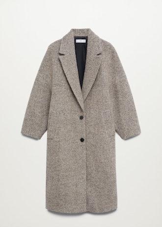 Textured Wool-Blend Coat