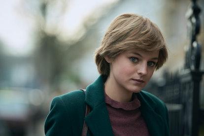 Emma Corrin as Princess Diana in 'The Crown' season four.