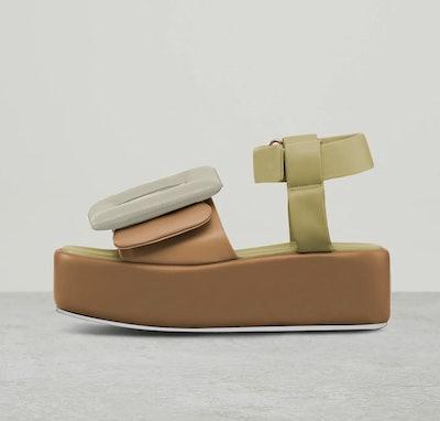 Puffy Sandal Platform Ankle Strap