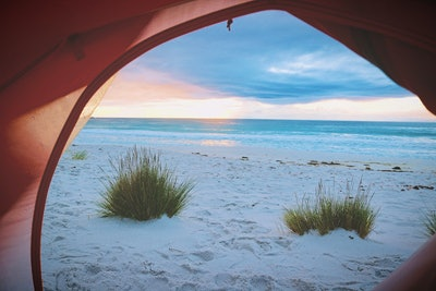 A Tent On The Beach
