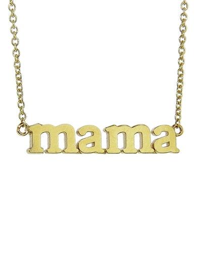 Jennifer Meyer Mama Yellow Gold Necklace