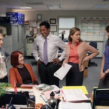 Photo of 'The Office' cast. Photo via Peacock/NBC