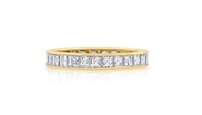 18K Gold Square Diamond Band (Price Upon Request)