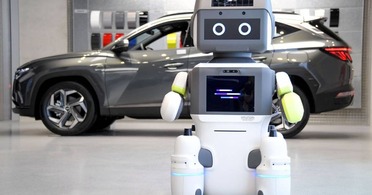 Hyundai's new robot provides customer service on showroom floors