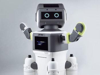 Hyundai's DAL-e robot provides customer support at a showroom in Seoul, South Korea.