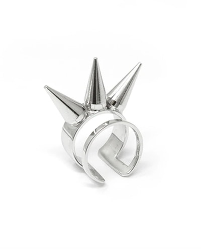 Double Band Ring w/3 spikes