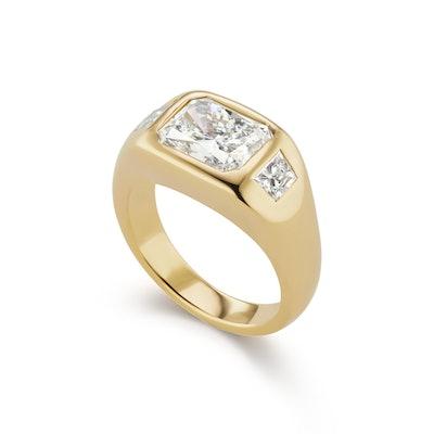 Radiant Cut Diamond Gypsy Ring (Price Upon Design)