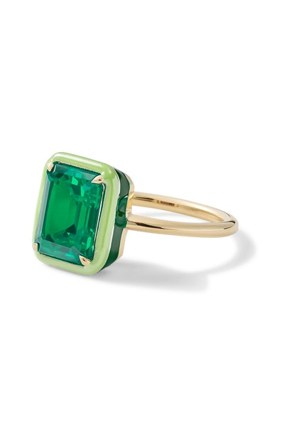 Rectangular Emerald Cocktail Ring