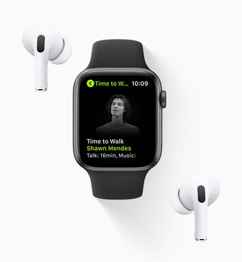Time to Walk with Shawn Mendes on Apple Fitness+ for Apple Watch with AirPods