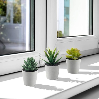 LuckyGreenery Artificial Succulents (3-Pack)