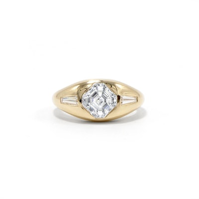 Asscher Cut Engagement Ring (Price Upon Request)