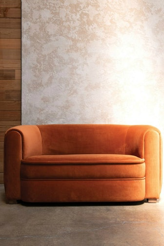 Saffron Velvet Round Sofa