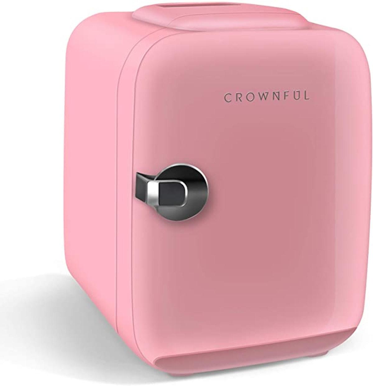 CROWNFUL Mini Beauty Fridge