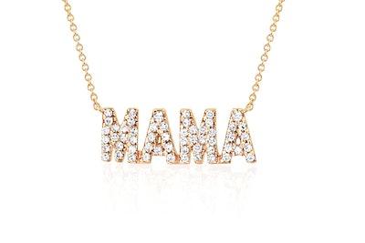 Diamond Mama Initial Necklace