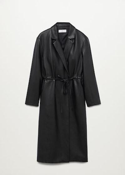 Leather-Effect Coat