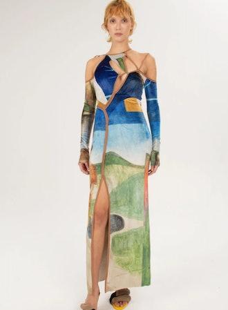 Velvet Strappy Dress