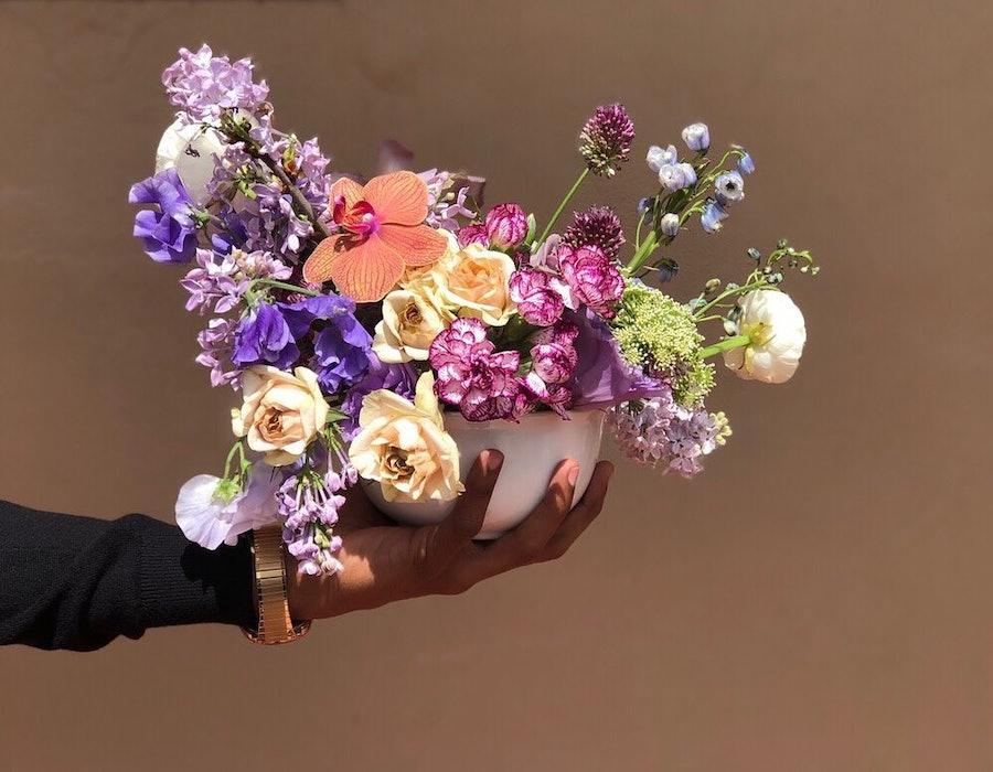 A floral arrangement from a Florida-based florist, De La Fleur Miami.