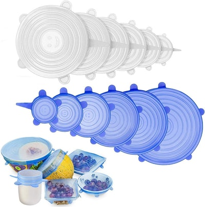 Adpartner Silicone Stretch Lids (12-Pack)