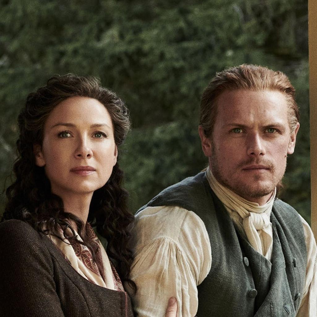Sam Heughan and Caitriona Balfe in 'Outlander.'