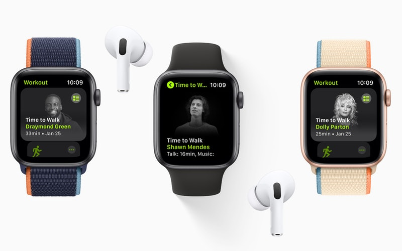 Apple's Fitness+ launches Time to Walk to encourage users to get more steps in.