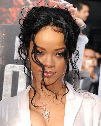 Rihanna at the MTV Movie Awards in 2014.