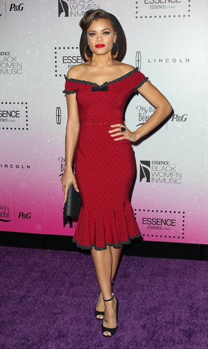 Andra Day attends the 4th Annual ESSENCE Black Women In Music honoring Lianne La Havas and Solange Knowles at Greystone Manor Supperclub on February 6, 2013 in West Hollywood, California.